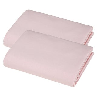 American Baby Company 100-percent Cotton Value Jersey Knit Pink Cradle Sheet (Pack of 2)