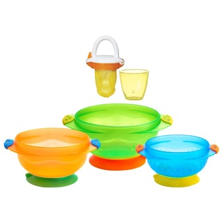 Munchkin Stay Put Suction Bowls with Deluxe Food Feeder