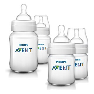 Philips Avent Anti-Colic 4 Ounce & 9 Ounce 4-Bottle Set