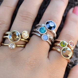 Sweet Romance Circle Stacking Rings