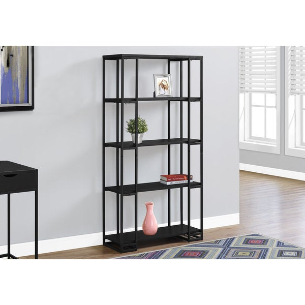 Shop Black Metal 60-inch H Bookcase - Free Shipping Today ...