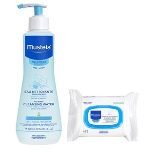 Mustela PhysiObebe No Rinse Cleansing with 25 Count Cleansing Cloths