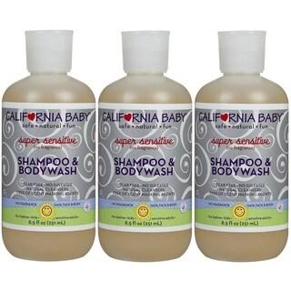 California Baby Super Sensitive Shampoo and Bodywash - 8.5 Fluid Ounce - 3 Pack