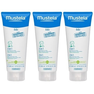 Mustela 2-in-1 Hair and Body Wash - 6.7 Ounce - 3 Pack