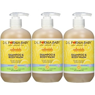 California Baby Calendula Shampoo and Bodywash - 19 Ounce - 3 Pack