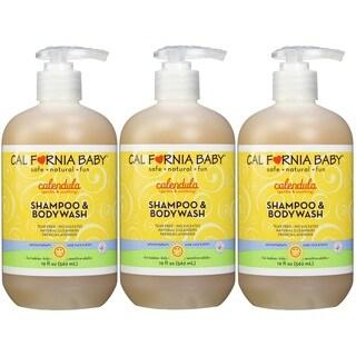 California Baby Calendula Shampoo and Bodywash - 19 Ounce - 3 Pack