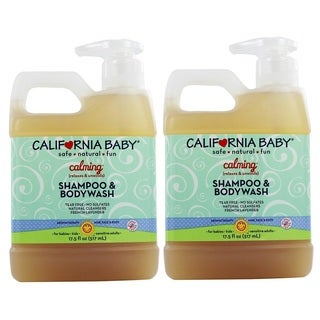 California Baby Calming Shampoo and Bodywash - 17.5 Ounce - 2 Pack