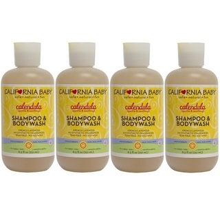California Baby Calendula Shampoo and Bodywash - 8.5 Ounce - 4 Pack