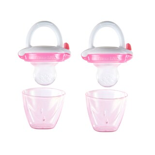Munchkin Baby Silicone Food Feeders - Pink - 2 Count