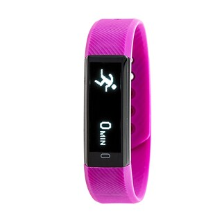 Everlast TR9 Fitness Tracker Waterproof Watch with Heart-Rate Monitor - Purple