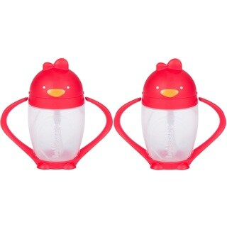 Lollacup Infant And Toddler Straw Cup - 2 Pack - Red