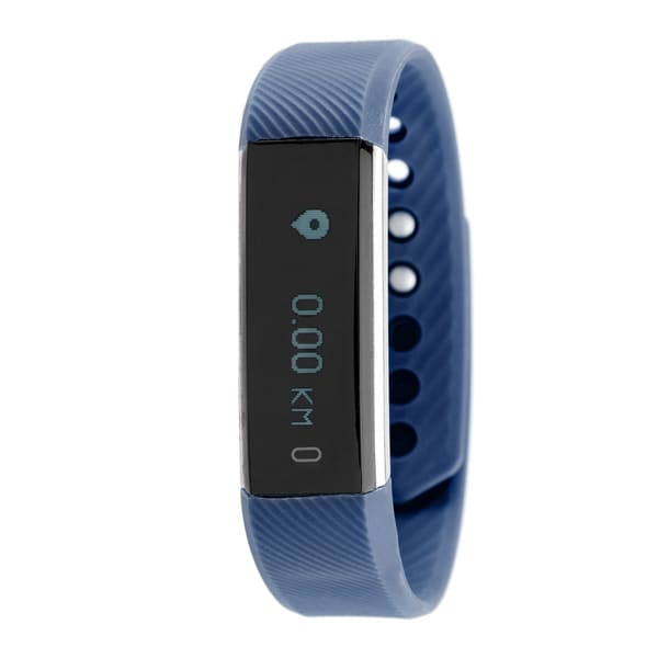 Everlast TR9 Fitness Tracker Waterproof Watch with Heart-Rate Monitor - Blue