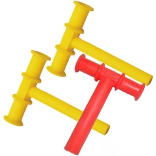 Chewy Tubes Sensory Teether - Yellow/Red/Yellow - 3 Pack