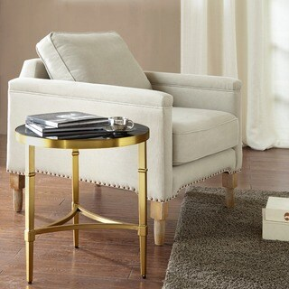 Madison Park Mario Gold Round End Table