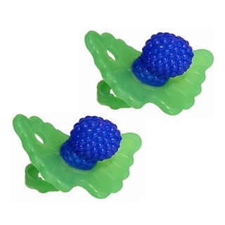 RaZbaby RaZ-Berry Silicone Teether Double Pack - Blue/Blue