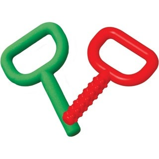 Chewy Tubes Super Tubes Teether - Red/Green - 2 Pack