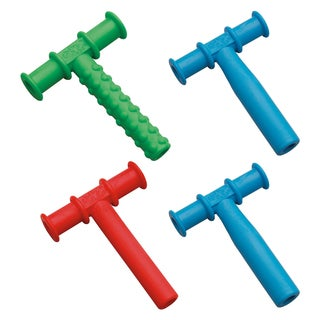 Chewy Tubes Sensory Teether - Green/Red/Blue - 4 Pack