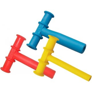 Chewy Tubes Sensory Teether - Red/Yellow/Blue - 3 Pack