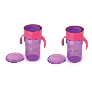 Philips Avent My Natural Drinking Cup - 12 Ounce - Purple - 2 Pack