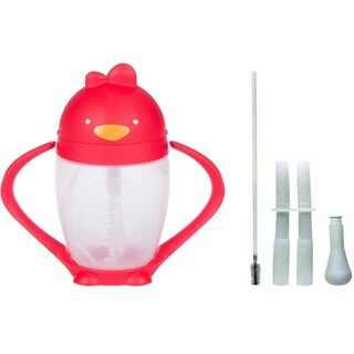 Lollacup Infant And Toddler Straw Cup with Straw Replacement Pack - Red