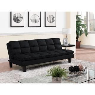Dhp Allegra Pillowtop Black Futon