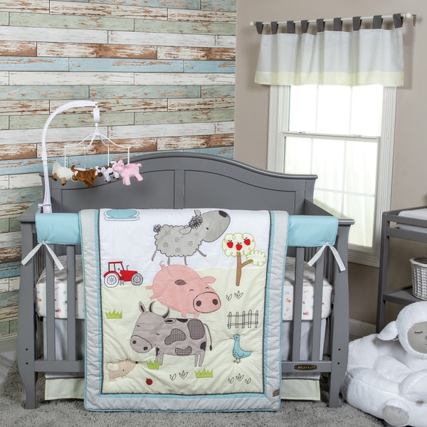 Trend Lab Farm Stack 4-piece Crib Bedding Set. Opens flyout.