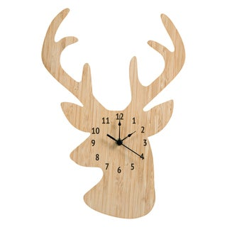 Trend Lab Bamboo Stag Head Wall Clock