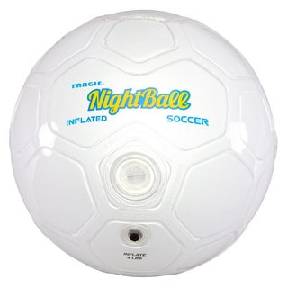 Tangle White Size 5 Night Soccer Ball