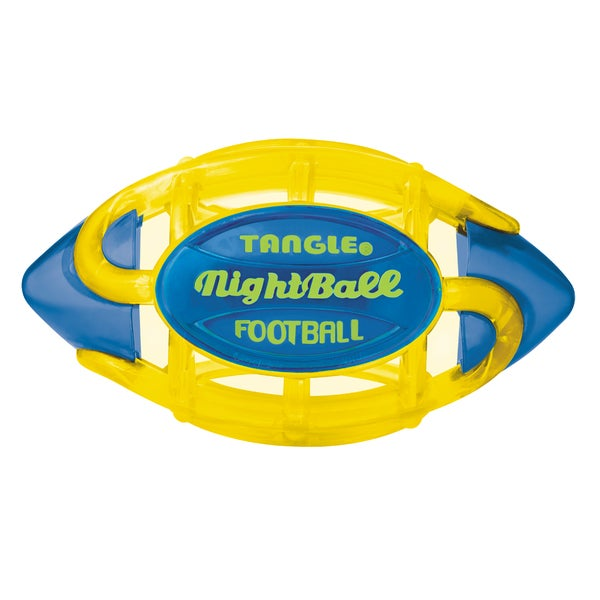 Tangle Large Yellow Body/Blue Tips NightBall Football