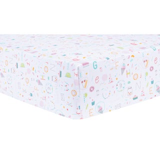 Trend Lab Alphabet Cake Fitted Crib Sheet