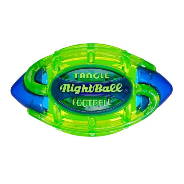 Tangle Small Green Body/Blue Tips NightBall Football