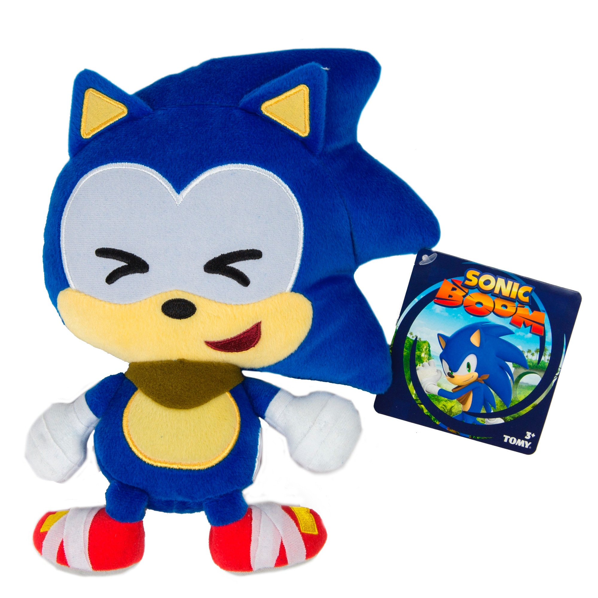 TOMY Sonic Boom Emoji Plush Cute Sonic (1)