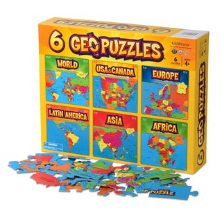 Geotoys 6 GeoPuzzles in One Box