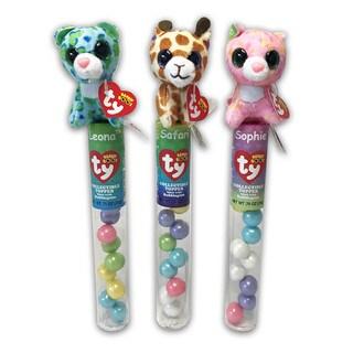 Ty Beanie Plush Candy Tube Topper Leona, Sophia, Safari