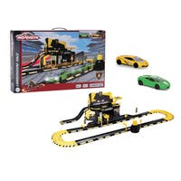 Light and Sound Lamborghini Race Playset with 2 Cars