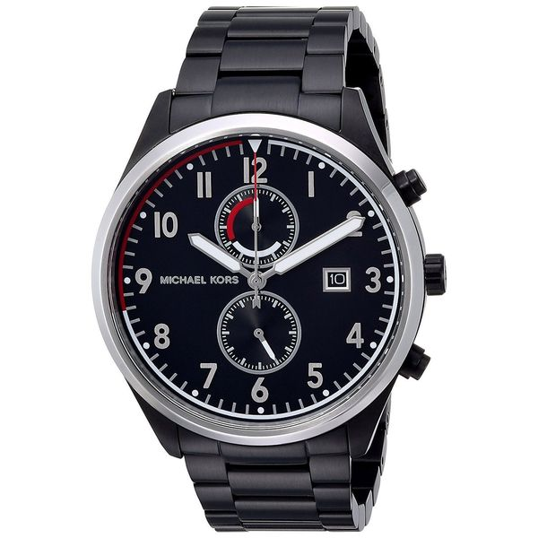 b3d7b649a83b Shop Michael Kors Men s MK8575  Saunder  Chronograph Black Stainless Steel  Watch - Free Shipping Today - Overstock - 16635498