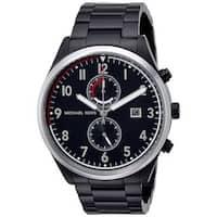 Michael Kors Men's MK8575 'Saunder' Chronograph Black Stainless Steel Watch