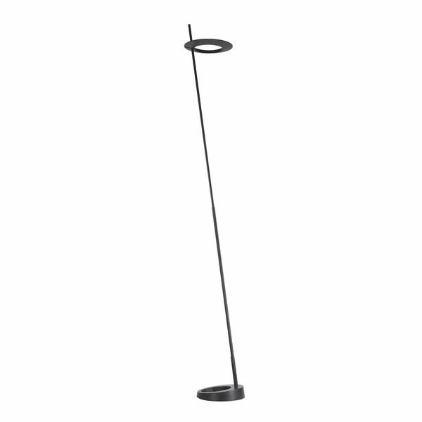 Sonneman Lighting Ringlo LED Satin Black Floor Lamp