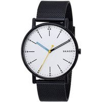 Skagen Men's  'Signatur' Black Stainless Steel Watch