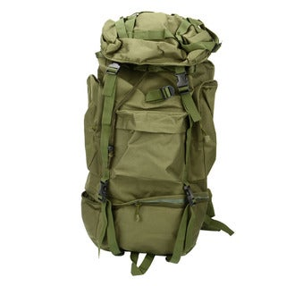 80L Waterproof Outdoor Tactical Backpack Green