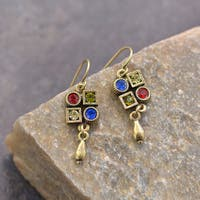 Sweet Romance Multi Color Swarovski Crystal Elements Deco Earrings