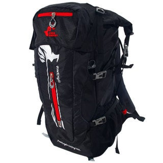 Free Knight 50L Waterproof Steel Frame Outdoor Hiking Backpack (Black/Red)