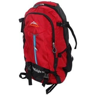 Free Knight FK0219 55L Outdoor Waterproof Nylon Hiking Camping Backpack (Option: Red)