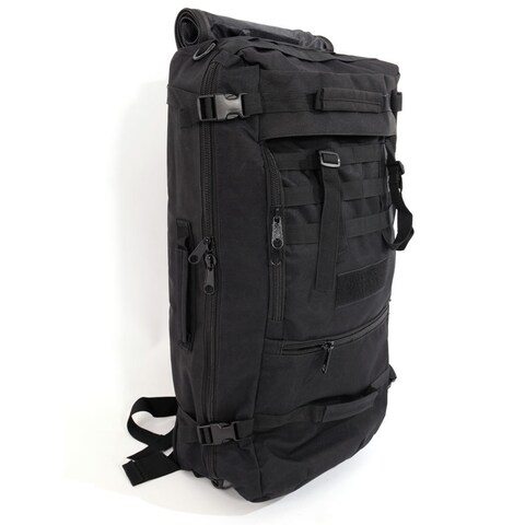 60L Outdoor Military Tactical Camping Hiking Trekking Backpack Black