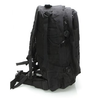Outdoor 600D Oxford Cloth Backpack for Tactical / War-game / Wild Adventure / Outdoor Sports Black (Option: Black)