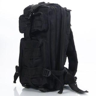 3P The Rucksack March Outdoor Tactical Backpack Shoulders Bag Black (Option: Black)