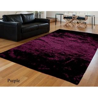 Casual Faux Sheepskin Super Soft Fluffy Handmade Area Rug - 5'x8' (Option: Purple)
