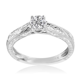 SummerRose 14k white gold 1/2ct TDW Solitaire Diamond Engagement Ring
