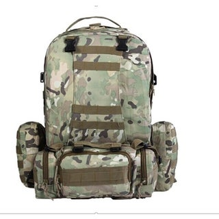 Military Tactical 55L Backpack (Option: Multi)