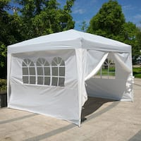 White Waterproof 3 x 3-meter Two Doors and Two Windows Folding Tent